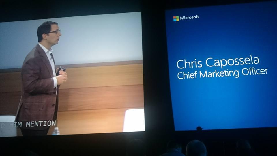 MS CMO Chris Capossela